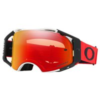 Oakley MX Goggles Airbrake Red/White (Prizm Torch Iridium Lens)