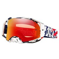 Oakley MX Goggles Airbrake Troy Lee Design Patriot RWB (Prizm Torch Iridium Lens)