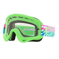 Oakley MX Goggles O Frame Braking Bumps Green Pick (Clear Lens)