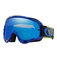 Oakley MX Goggles O Frame Circuit Blue/Yellow (Black Ice Iridium & Clear Lenses)