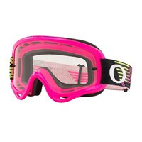 Oakley MX Goggles O Frame Circuit Pink/Green (Clear Lens)