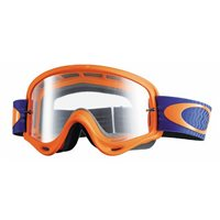 Oakley MX Goggles O Frame Shockwave Orange/Blue (Clear Lens)