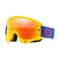 Oakley MX Goggles O Frame Yellow/Blue (Fire Iridium & Clear Lenses)