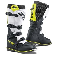 TCX X-Blast Off Road Boots (Black/White/Fluo Yellow)