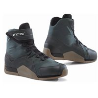 TCX District Waterproof Motorcycle Boots (Gunmetal/Brown)