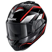 Shark Evo ES Yari Flip Front Helmet (Black/Red/White)