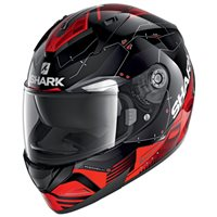 Shark Ridill 1.2 Mecca Motorcycle Helmet (Black/Red/Silver)