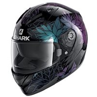 Shark Ridill 1.2 Nelum Motorcycle Helmet (Black/Pearl)
