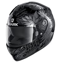 Shark Ridill 1.2 Nelum Motorcycle Helmet (Black/Silver/Anthracite)
