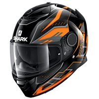 Shark Spartan 1.2 Antheon Helmet (Black/Orange)