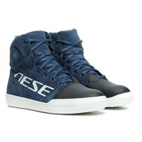 Dainese York D-WP Shoes (Black Iris/White)