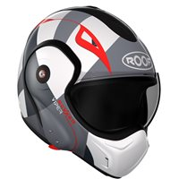 Roof Boxxer 9 Viper Flip Front Helmet (White|Black|Red)