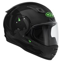 Roof RO200 Carbon Panther Helmet (Gloss Carbon|Green)