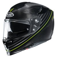 HJC RPHA 70 Artan Carbon Motorcycle Helmet (Black|Yellow)
