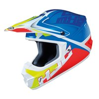HJC CS-MX II Ellusion Moto-X Helmet (Blue/White/Yellow)