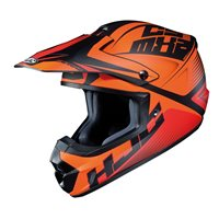 HJC CS-MX II Ellusion Moto-X Helmet (Orange)