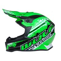 Wulfsport Off Road Pro Kids Moto-X Helmet (Green)