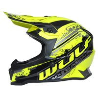 Wulfsport Off Road Pro Kids Moto-X Helmet (Yellow)