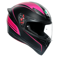 AGV K1 Warm Up Motorcycle Helmet (Black|Pink)