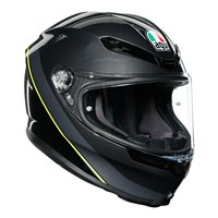 AGV K6 Minimal Motorcycle Helmet (Gunmetal|Black|Yellow)