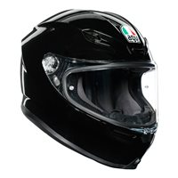 AGV K6 Motorcycle Helmet (Black)