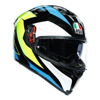AGV K5-S Core Helmet (Black|Cyan|Yellow)