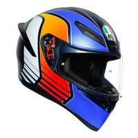 AGV K1 Power Motorcycle Helmet (Matt Blue|Orange|White)