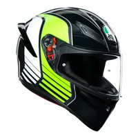 AGV K1 Power Motorcycle Helmet (Gunmetal|White|Green)