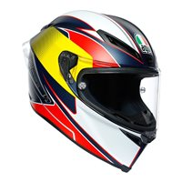 AGV Corsa-R Supersport Motorcycle Helmet (Blue/Red/Yellow)