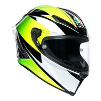 AGV Corsa-R Supersport Motorcycle Helmet (Black|White|Lime)
