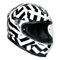 AGV K6 Secret Motorcycle Helmet (Black|White)