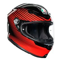 AGV K6 Rush Motorcycle Helmet (Black|Red)