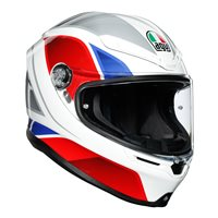 AGV K6 Hyphen White Motorcycle Helmet (White|Red|Blue)