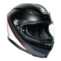 AGV K6 Minimal Motorcycle Helmet (Matt Black|White|Red)