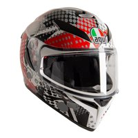 AGV K3 SV-S Pop Motorcycle Helmet (Grey|Red|White)