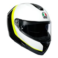AGV Sports Modular Ray Flip Front Helmet (Carbon|White|Yellow)