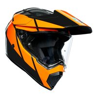 AGV AX9 Trail Helmet (Gunmetal|Orange)