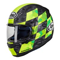 Arai Profile-V Patch Flour Yellow Motorcycle Helmet
