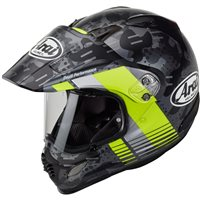 Arai Tour-X 4 Motorcycle Helmet Cover Yellow (Matt Black|Yellow)