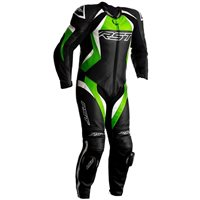RST Tractech Evo 4 CE One Piece Leathers (Black/Green) 2355