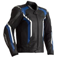 RST Axis CE Leather Jacket 2353 (Black/Blue/White)