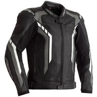RST Axis CE Leather Jacket 2353 (Black/Grey/White)