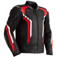 RST Axis CE Leather Jacket 2353 (Black/Red/White)