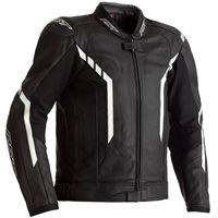RST Axis CE Leather Jacket 2353 (Black/White)