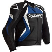 RST Tractech Evo 4 CE Leather Jacket 2357 (Black/Blue)