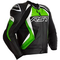 RST Tractech Evo 4 CE Leather Jacket 2357 (Black/Green)
