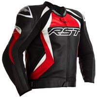 RST Tractech Evo 4 CE Leather Jacket 2357 (Black/Red)