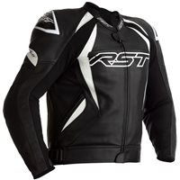 RST Tractech Evo 4 CE Leather Jacket 2357 (Black/White)