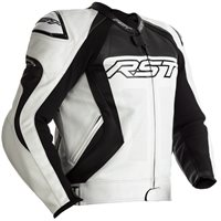RST Tractech Evo 4 CE Leather Jacket 2357 (White/Black)