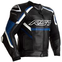RST Tractech Evo R CE Leather Jacket 2461 (Black/Blue)